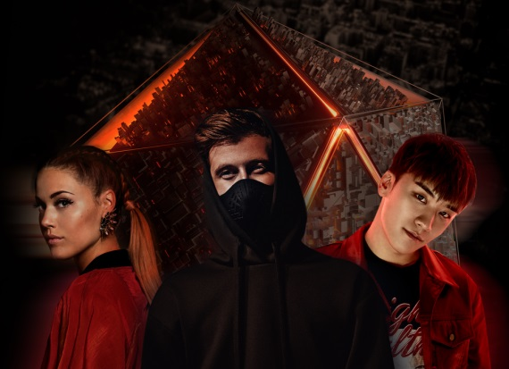 Alan Walker, Julie Bergan and Seungri, Presspic